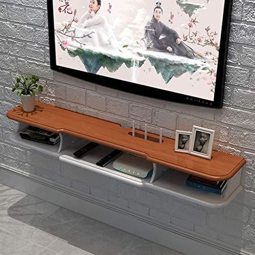 XINGPING-Shelf Wandbehang Wandmontage Schlafzimmer TV Schrank Wandmontage Set-Top Box Master Schlafzimmer Regal Europa-Stil (Farbe : 1.2 Meters solid Wood Surface) - Master-schlafzimmer-möbel-sets