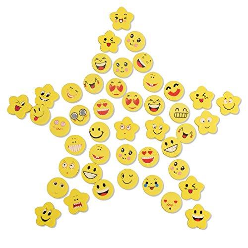 60 pezzi emoji emoticon gomma cancellare matita bomboniera regalo per bambini