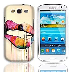 Lip Design Hard Case with 3-Pack Screen Protectors for Samsung Galaxy S3 I9300