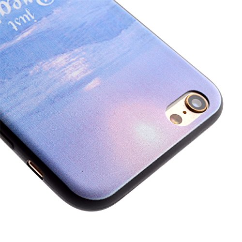 iPhone 6S Plus Coque,iPhone 6 Plus Case,iPhone 6S Plus Cover - Felfy Transparent Ultra Light Mince Slim Gel Souple Soft Flexible TPU Cas Motif Couvrir Protector Housse Anti Scratch Couverture Coloré M Mer Case