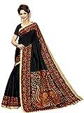 Art Decor Sarees Cotton Saree with Blouse Piece (HASINA-BLACK_Black_Free Size)