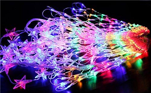 LTNT Lichternetz, Festliche Dekoration Lichter,Led Spider Web Light,Weihnachtsschmuck,Weihnachtsbaum Ornamente,Farbe