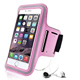 Image of Pink Iphone 6 Armband By Eteknic Iphone 6s Armband For Running Fully Adjustable Sports Gym Running Workout Walking Exercise Fitness Armband Case