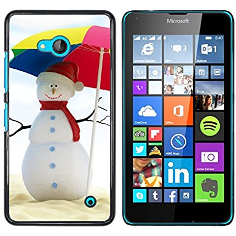 NOKIA Lumia 640 , Cassa Cover Guscio Di Plastica (Estate del pupazzo di neve)