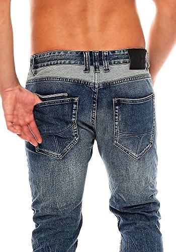 M.O.D Herren Straight Fit Jeans comet blue