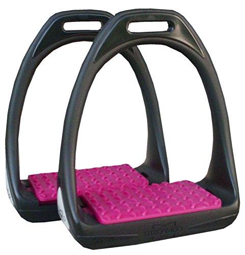 Étrier Reflex en plastique avec surface de pesée Flexible Large Noir/Rose | Compositi Étrier en plastique