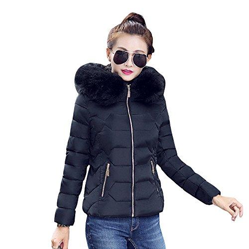 (iHENGH Vorweihnachtliche Karnevalsaktion Damen Herbst Winter Bequem Mantel Lässig Mode Jacke Frauen Womens Winter Dick Jacke Pelzkragen Mantel Warme Baumwolle Parka Hoodie Outwear)