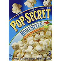 Microwave Popcorn, Homestyle, 3.5 oz Bags, 3 Bags/Box, Sold as 1 Box