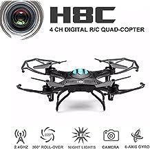 EACHINE H8C Cuadricóptero Con Cámara 2.4G 6-Axis RC Teledirigido Quadcopter RTF Modo 2 (Negro)