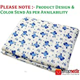 Shopnetix Summer Special 100% Premium Anti-Pilling Super Soft Cotton Floral Print Single Bed AC Dohar/Summer AC Blanket- Blue Iris Flowers