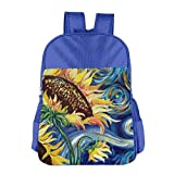 Starry Night and Sunflowers Children School Backpack Carry Bag For Youth Boy Girls