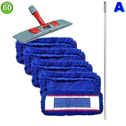 Set mit 5 Wischmopp Wischmop Acryl Industriequalität waschbar in 40 50 60 80 cm (60 cm)