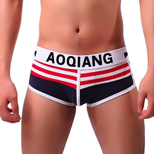Herren kurze Unterhosen Hot Sexy Unterwäsche Boxer kurze Shorts Unterhosen (XL, Navy) (Sexy Herren Kurze Stretch)