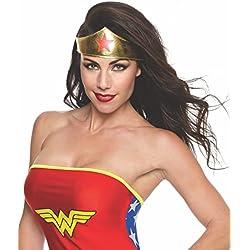 Rubie 's–Disfraz de oficial Wonder Woman, Tiara, adultos