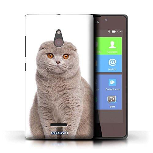 Kobalt® Imprimé Etui / Coque pour Nokia XL / Sibérien conception / Série Espèces de chats Scottish Fold