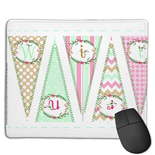 Winter Banner (Pastel Winter Banner Mouse Mat Desk Pad with Non-Slip Rubber Base 18x22cm)