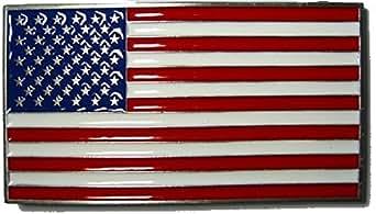 UNITED STATES STARS & STRIPES FLAG Boucle de Ceinture + présentoir