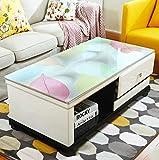 CCGG Table Basse Nappe Imperméable À l'eau Anti-échaudage Européenne Rectangulaire Souple en Plastique Mat De Verre (Taille : 120cm*70cm)