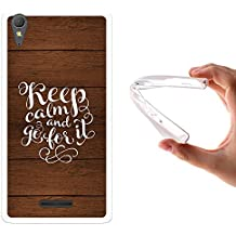 Funda Sony Xperia T3, WoowCase [ Sony Xperia T3 ] Funda Silicona Gel Flexible Keep Calm And Go For It, Carcasa Case TPU Silicona