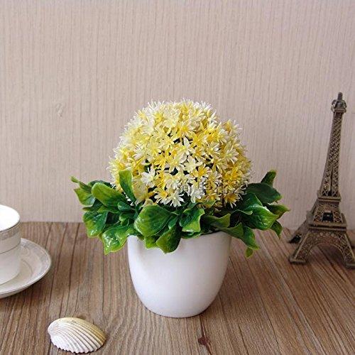 HL-Hzh - der Mode Milan Gras Ball kleine Bonsai Bäume Topfpflanzen Heimtextilien Deko, D