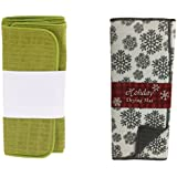 Iktu™ Dish Drying Mat Super Absorbent Microfiber Cloth (Assorted Designs/Color) - 40x50 CM (Pack of 2)