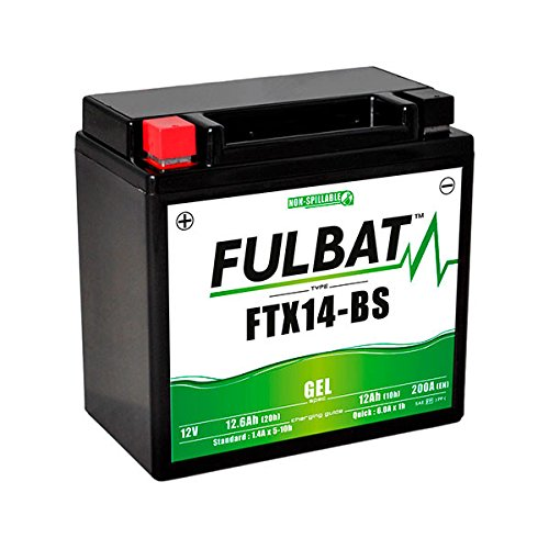Fulbat - Batteria moto Gel YTX14-BS/FTX14-BS 12V 12Ah