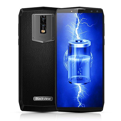 "Blackview P10000 Pro - 6,0\"" 4G LTE Smartphone, 18:9 Full Display, Android 7.1 Octa Core 2.0GHz 6GB+64GB, 4 Kamera, Gesichtserkennung, 11000mAh 5V 5A Schnellladefunktion, Dual SIM, Entsperrt Handy"