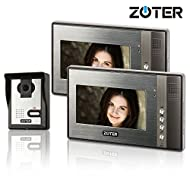 "Generic 7"" inch Color LCD Video Door Phone Doorbell Home Entry Intercom System 2 Monitor 1 Camera Night Vision 702"
