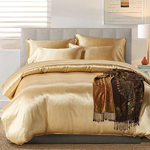 gloryhonor Fashion Moderne Solid Farbe Bettbezug Kissen Fall bequem 2Betten-Set, schwarz, Polyester, camel, Einheitsgröße - Solide Tröster Set