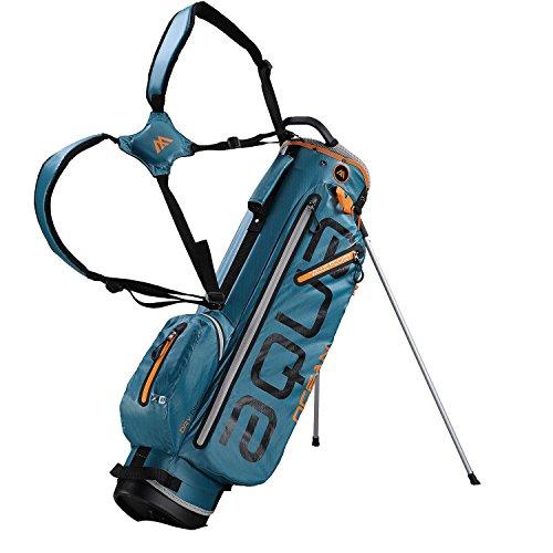 BIG MAX AQUA OCEAN Golf Standbag - Ultraleicht 100{4d7cae7889c3b06c0de5367419bc79567033a5afca053381a0f7de5827fd661f} Wasserdicht (Petrol/Black/Orange)