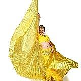calcifer® Nuevo Egipcio Egipto disfraz de alas de Isis Alas de danza del vientre regalo para gran fiesta Navidad, dorado