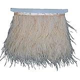 Kolight confezione da 2 Yards naturale tinto piume di struzzo 4 ~ 15,2 cm (10 ~ 15 cm) Trim frange per fai da te cucito Crafts costumi decorazione Champagne