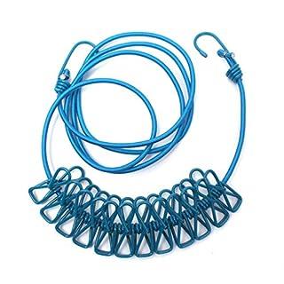 Provide The Best Elastic Camp Zelt Bushcraft Wäscherei Gemeinschaftswaschwäscheleine Seil mit 12 Pegs Clips
