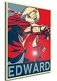 "Poster Full Metal Alchemist ""Propaganda"" Edward - FMA Formato A3 (42x30 cm)"