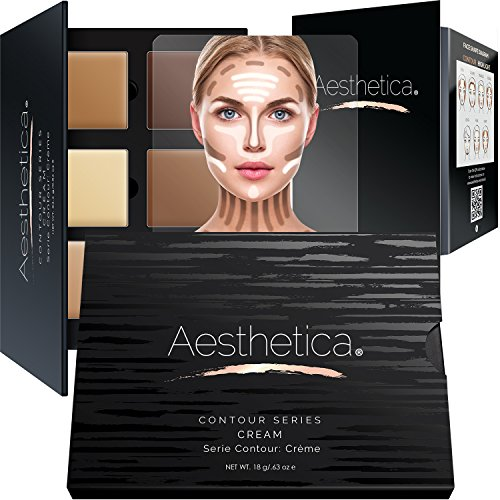 Aesthetica cosméticos crema contorno y relieve Kit de maquillaje, con
