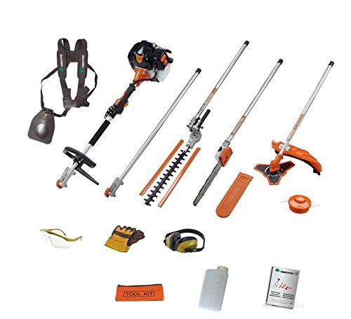 Timberpro Benzin Heckenschere Multi Tool 5in1 mit Hochentaster und Motorsense