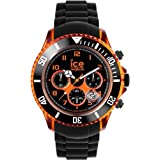 Mens Ice-Watch Black and Orange Sili Watch CH.KOE.BB.S.12