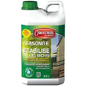 Owatrol Seasonite Protection d'attente bois tendres neufs et humides 2,5 L