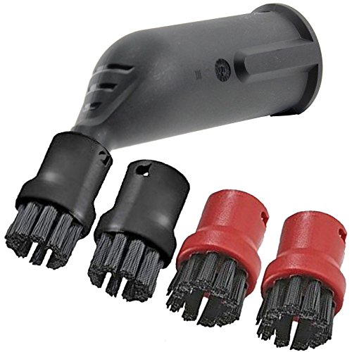 spares2go Spray Jet Detail Aufsatz + Bürste Düsen für Kärcher Dampfreiniger