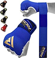 RDX Boxing Hand Wraps Inner Gloves for Punching - Elasticated Padded Bandages under Mitts - Quick Long Wrist S