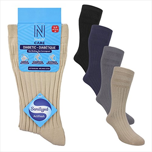 Cotton Diabetic Socks, Extra-Wide Stretch Tops, Legs and Feet also Ideal for Oedema by Norfolk® Care – Joseph