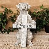 DIWW Memorial Dog figurine lapide Beloved Hero 32cm statua