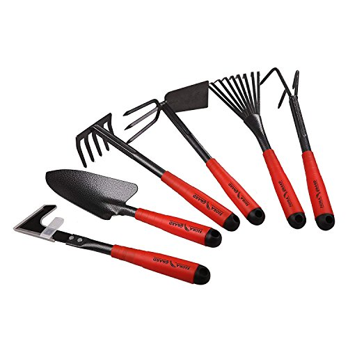 FLORA GUARD Gartengeräte,-6 Stück Garten Werkzeug Set K718