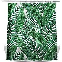 Amazon.es: cortina de baño tropical
