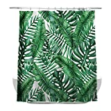 Best Leaf Curtains - Tropical Plants Banana Leaves Bathroom Curtains, 100% Waterproof Review
