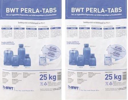 2 x BWT PERLA TABS Regeneriersalz 25 Kg