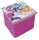 Unbekannt Fun House 712527My Little Pony Hocker Aufbewahrungsbox für Kinder Karton/Vlies 30x 30x 30cm