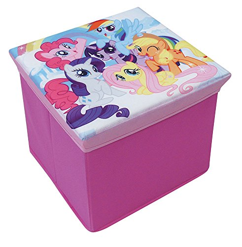 Achat FUN HOUSE 712527 My Little Pony Tabouret de Rangement pour Enfant Carton/Intissé 30 x 30 x 30 cm