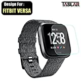 #8: Taslar Screen Protector Arc Edge Tempered Glass Scratch Screen Protector Guard Card for Fitbit Versa Smart Fitness Watch Tracker
