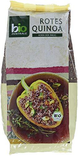 biozentrale Quinoa Bio Rot | 400g Quinoa Samen Bio | Reis, Chia Samen & Leinsamen Alternative - Recycling-kokos